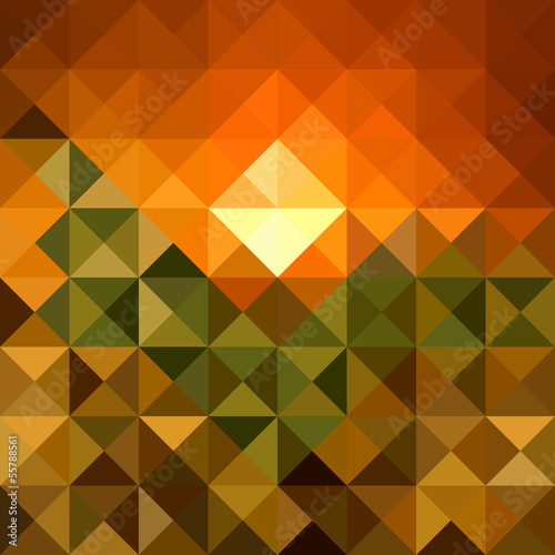 Poster ZigZag Autumn season triangle seamless pattern background. EPS10 file.