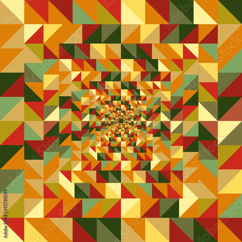 Tuinposter ZigZag Vintage autumn triangles seamless pattern background. EPS10 file