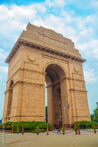 Montage in der Fensternische Delhi India gate
