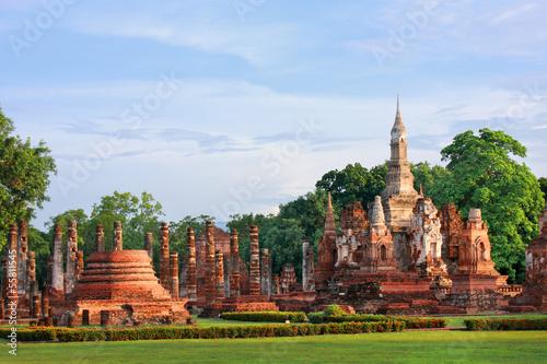 Fotografie, Obraz  Mahathat temple, Thailand
