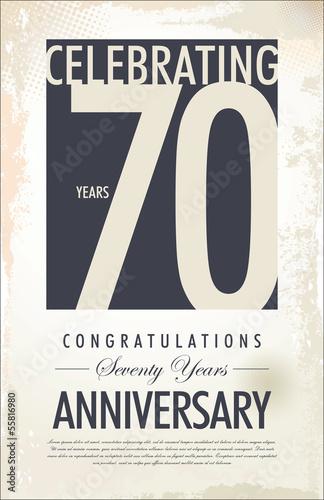 Photographie  70 years anniversary background