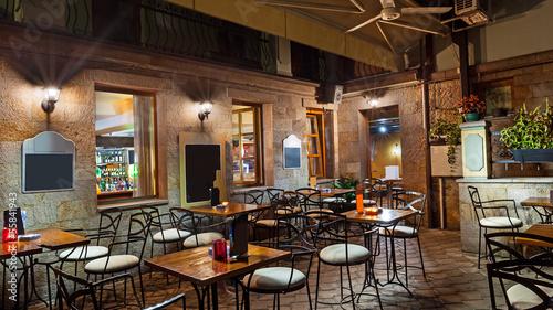 Fotobehang Restaurant Restaurant balcony