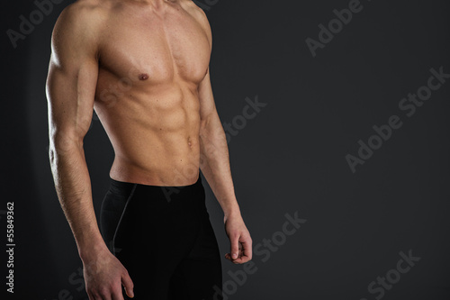 Fotomural Sexy muscular man