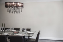 Dining Room With Modern Furnit...