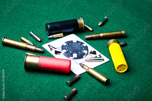 Ace with bullets плакат