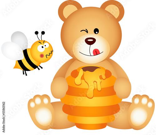 mis-zjada-miod-i-pszczola-zly