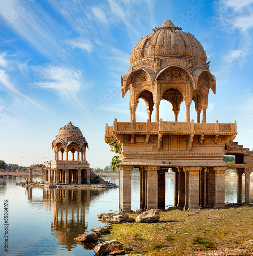 Foto op Aluminium India Gadi Sagar (Gadisar), Jaisalmer, Rajasthan, India, Asia