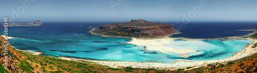 Paysage de Crète en vue panoramique