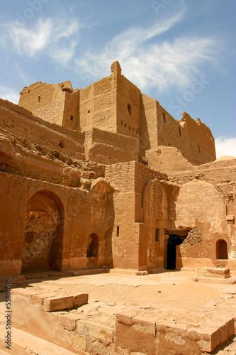 Old fortification in the desert of Aswan, Egypt Wallpaper Mural
