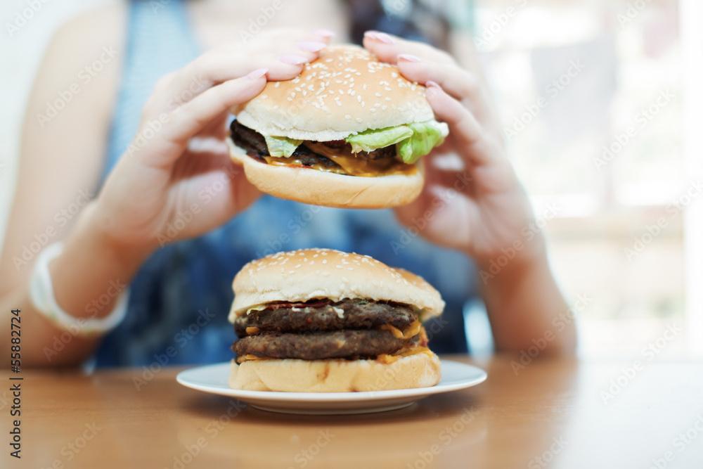 Fototapety, obrazy: Hamburgers