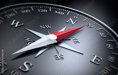 Fotografia  Czarny kompas