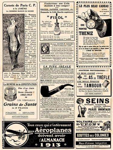 Poster Kranten Page de pub vers 1913