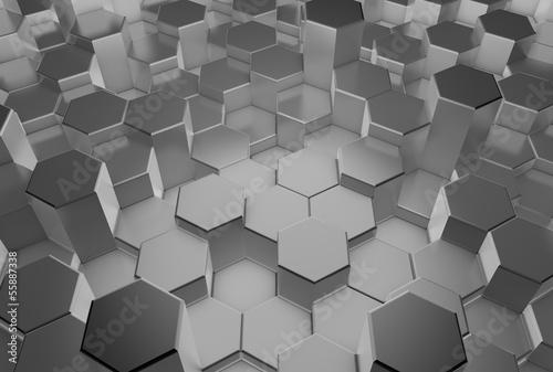 3d-abstrakcyjne-tlo-szare-metalowe-formy-3d