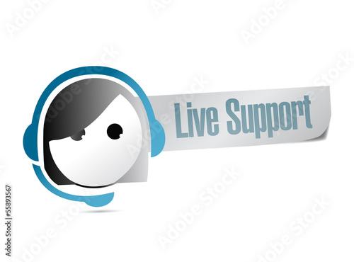 Fotografie, Obraz  live support illustration design