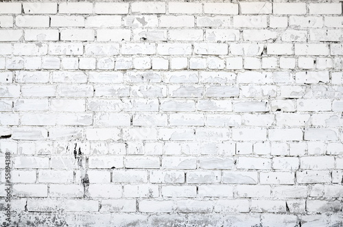 Photo sur Toile Brick wall White brick wall