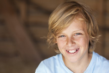 Young Happy Blond Boy Child Sm...