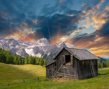 Shack On A Mountain Meadow - S...