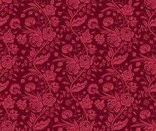 Claret Seamless Pattern With A...