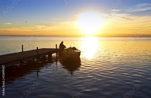 Foto auf AluDibond Pier el hombre del lago
