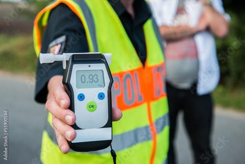 Alkoholtest - Polizei - Alkohol am Steuer Slika na platnu