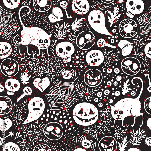 Cotton fabric Happy Halloween!