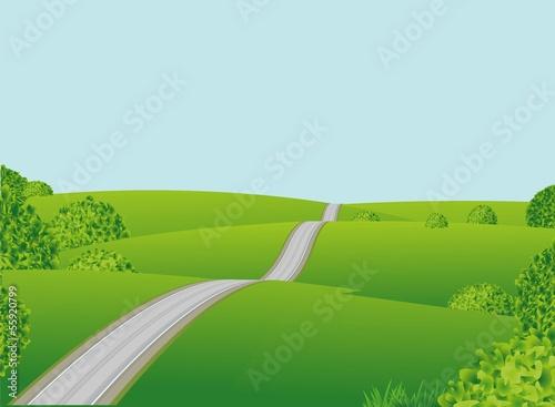 Photo sur Aluminium Vert chaux Plain landscape. Vector.