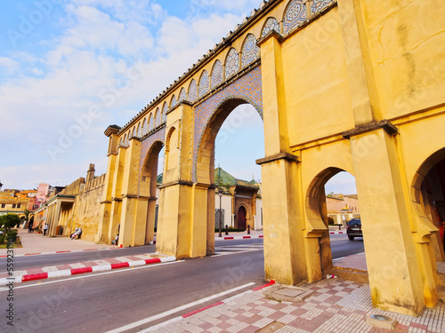Foto op Canvas Gate to the Moulay Ismail Mausoleum in Meknes, Morocco