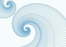 Blue Vortex. Vector.