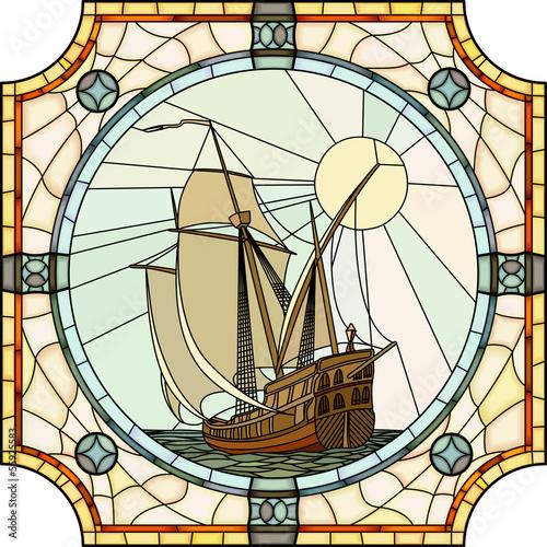 ilustracja-zaglowcow-z-xvii-wieku