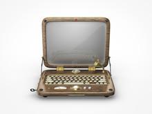 Old Vintage Laptop Icon