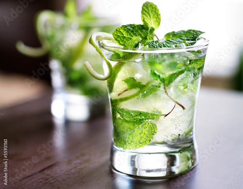 Fotografie, Obraz  cocktail - two cold mojitos