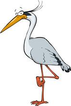 Cartoon Heron