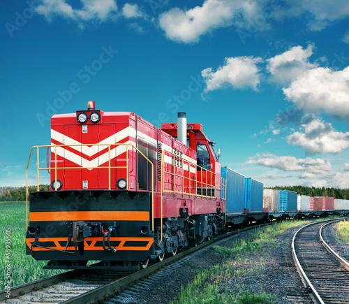 obraz lub plakat Pociąg towarowy