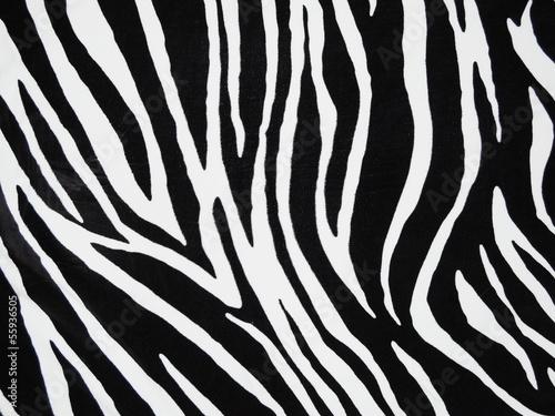 In de dag Zebra Texture of black and white zebra textile