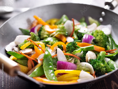 Photo vegetarian wok stir fry