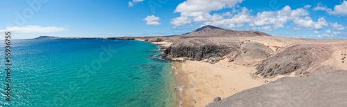 Poster Canarische Eilanden Papagayo Beach in Lanzarote