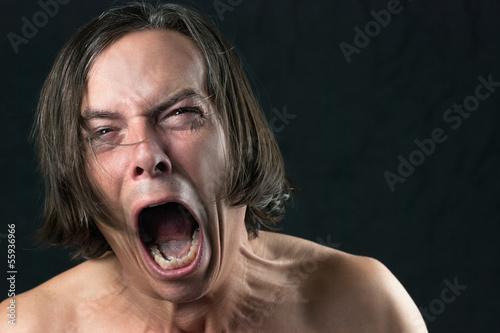 Man Screams In Agony Wallpaper Mural