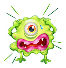 A Green Monster In Frustration