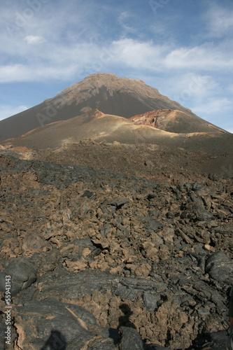 Tuinposter Vulkaan Volcano