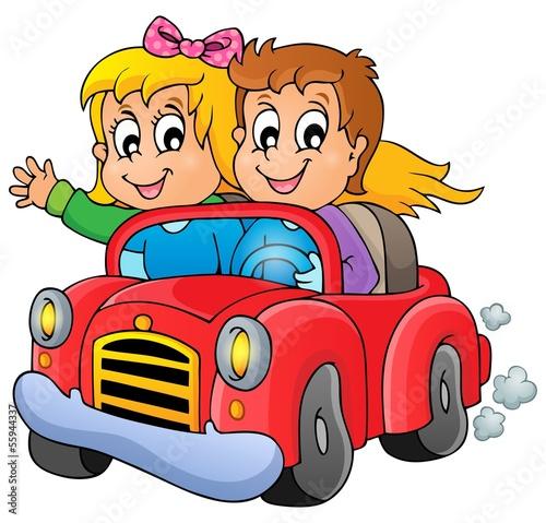 Fotobehang Boerderij Car theme image 1