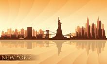 New York City Skyline Detailed Silhouette