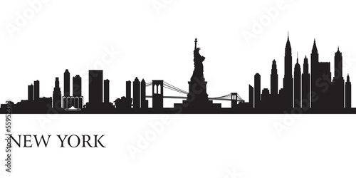 New York city skyline silhouette background