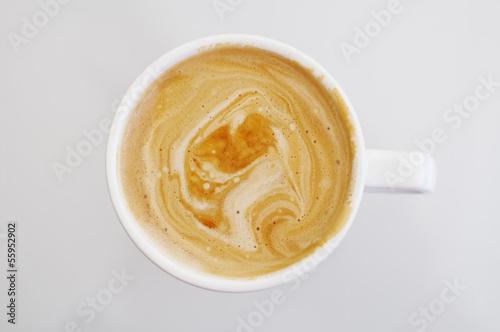 Fototapeta Cup of coffee with skin obraz na płótnie