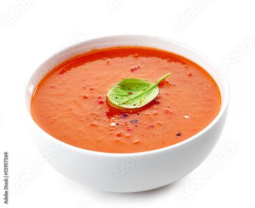 Leinwand Poster Bowl of tomato soup