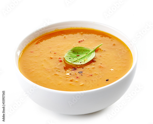 Papiers peints Plat cuisine Bowl of squash soup