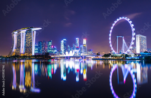 Photo Stands Singapore Singapore cityscape