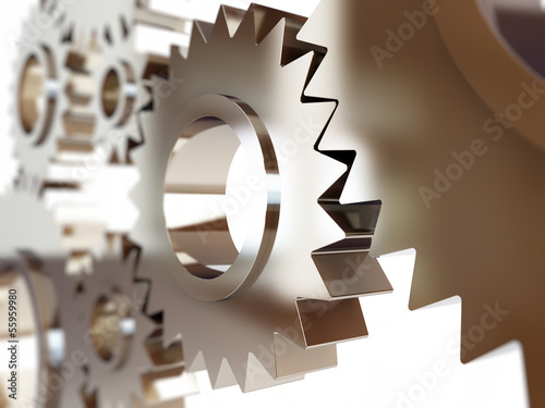 gears abstract background. Canvas Print