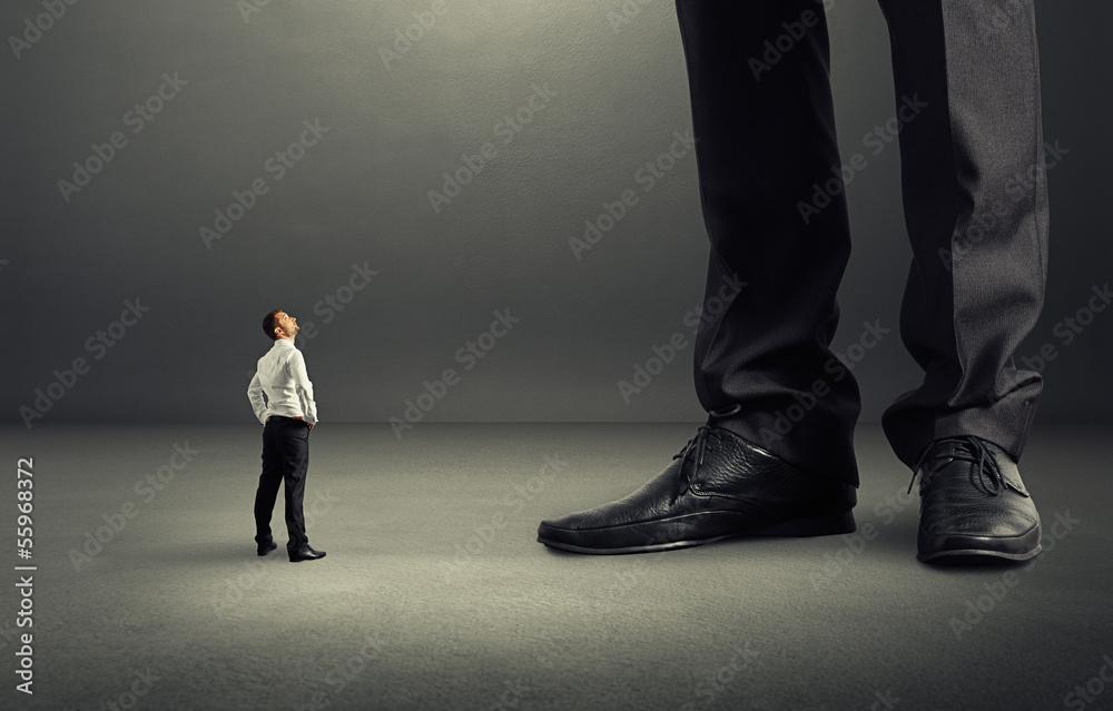 Fototapeta man looking at his big boss