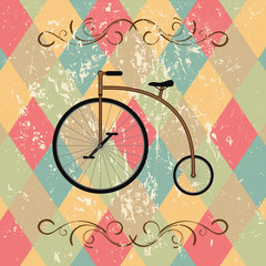 Fototapetaretro bicycle abstract background