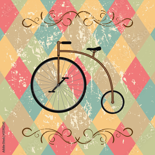 retro bicycle abstract background - 55982541
